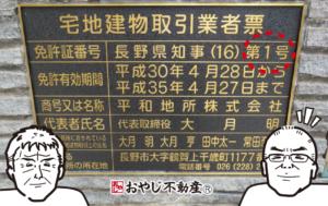 長野県の不動産会社の元祖 宅建免許(1)の「平和地所株式会社」さん