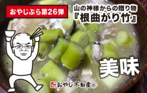我が家で我が家の『タケノコ汁と天麩羅』を食す