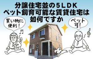 分譲住宅並の5LDK ペット飼育可能な賃貸住宅は如何ですか